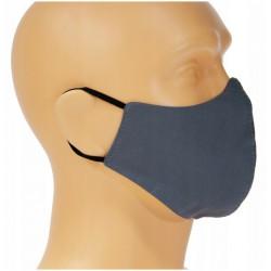 Maseczka ochronna na twarz Dwuwarstwowa 5szt Bawełna A-popiel